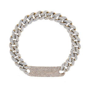 Pave Dog Tag Bracelet