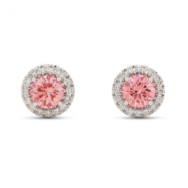 Pink Halo Stud Earrings