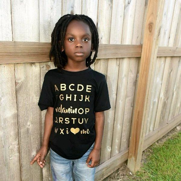 Melanin OP Tee • Youth • Gold - celebrating families of color | black owned