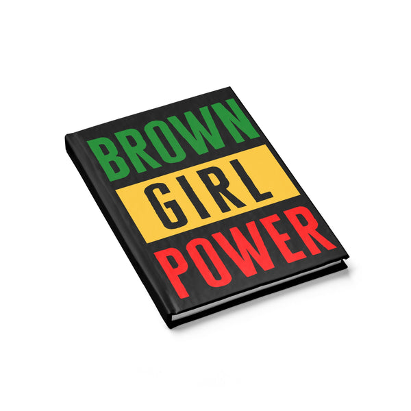 Irie Brown Girl Power Journal Ruled Line
