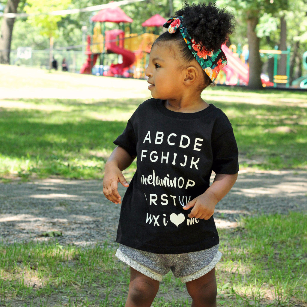Melanin OP Tee • White • Infant-Toddler - celebrating families of color | black owned