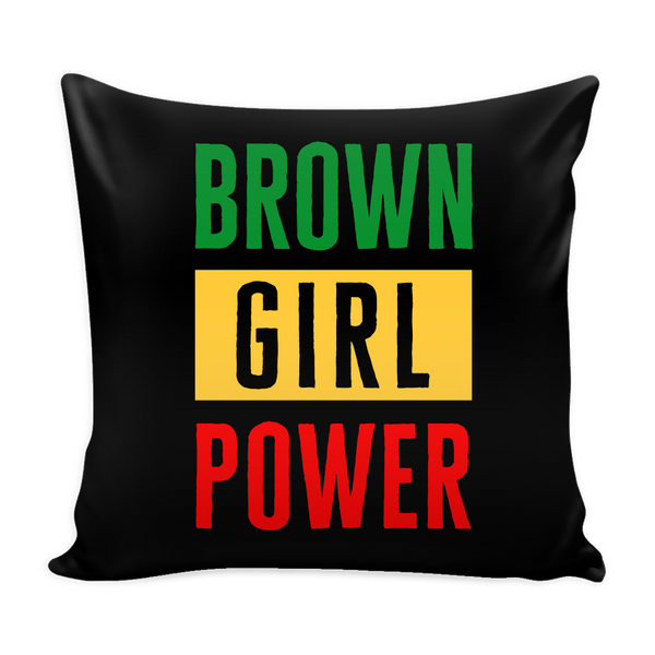 Irie Brown Girl Power Pillow Cover