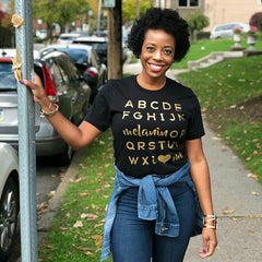 Adults: Melanin OP Tee • Gold - apparel for families of color | black owned business