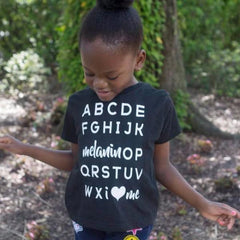 Melanin OP Tee • Youth • White - celebrating families of color | black owned