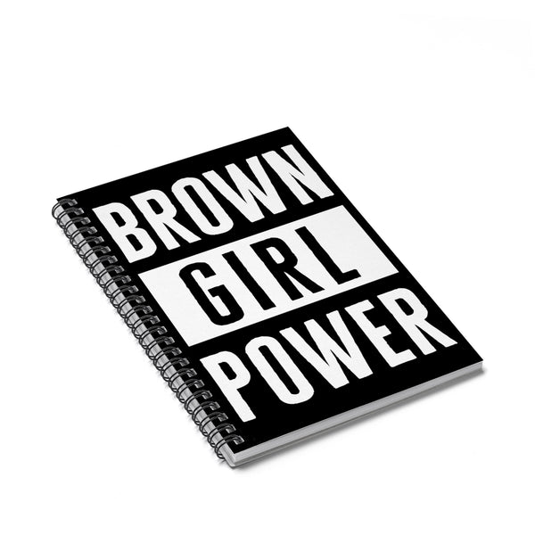 Brown Girl Power Spiral Notebook - Ruled Line - celebrating families of color | black owned