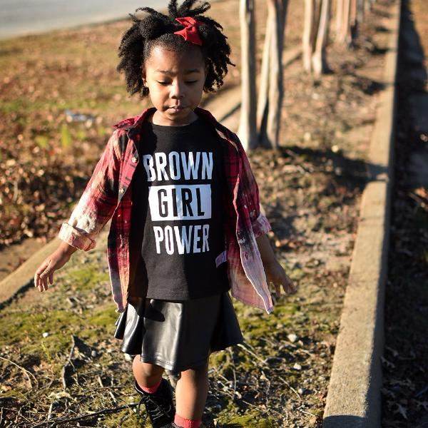 Brown Girl Power Tee • Toddler - apparel for families of color | black owned business