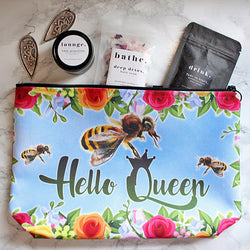 Exclusive: Queen Bee Garden Cosmetic Bag