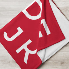 Red ABC Throw Blanket