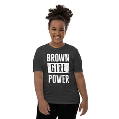 Kids: Brown Girl Power Tee • Ink-Based