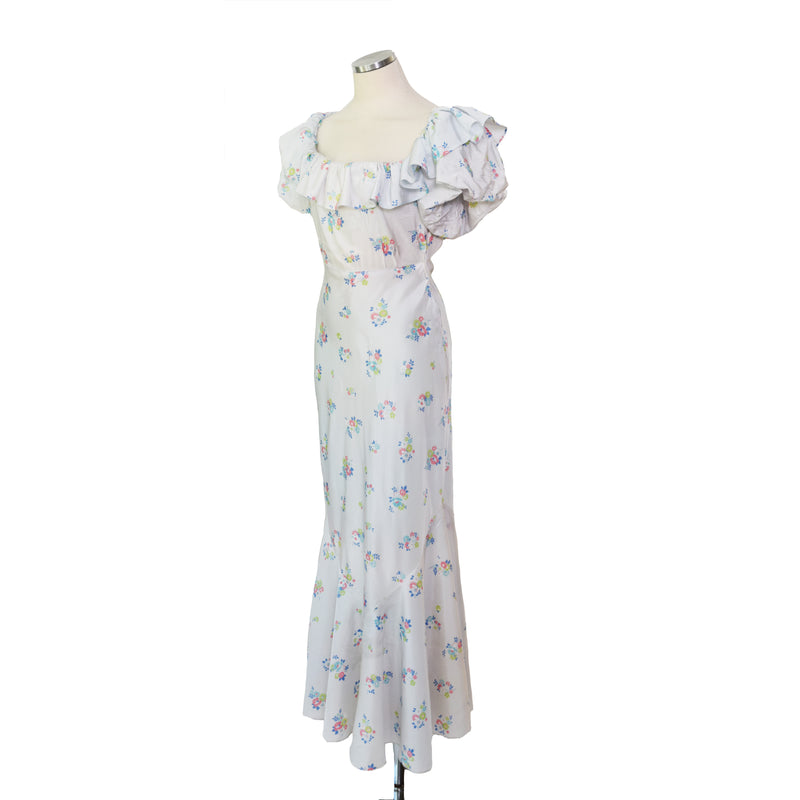 Vintage 1930s Ruffled Gown - Sweet Disorder Vintage