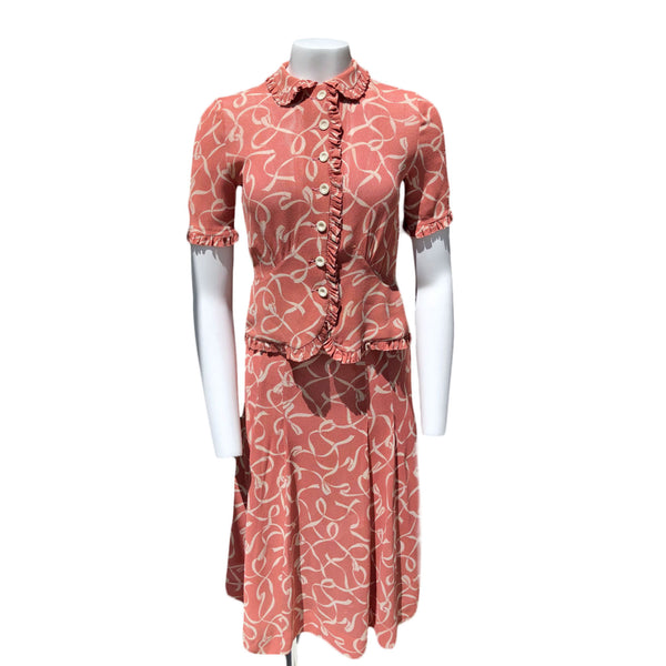 1940s Rose Gold Dress Set - Sweet Disorder Vintage