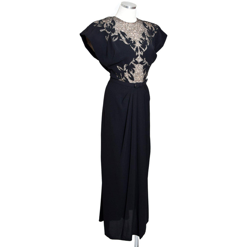 1940s Lace Illusion Goddess Dress - Sweet Disorder Vintage
