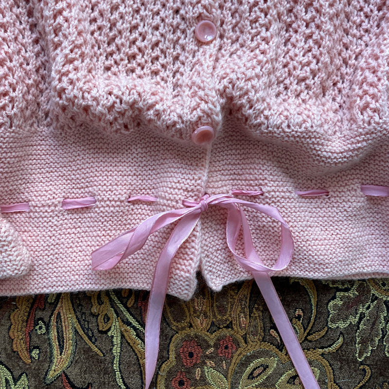 1940s Hand Knit Bed Jacket