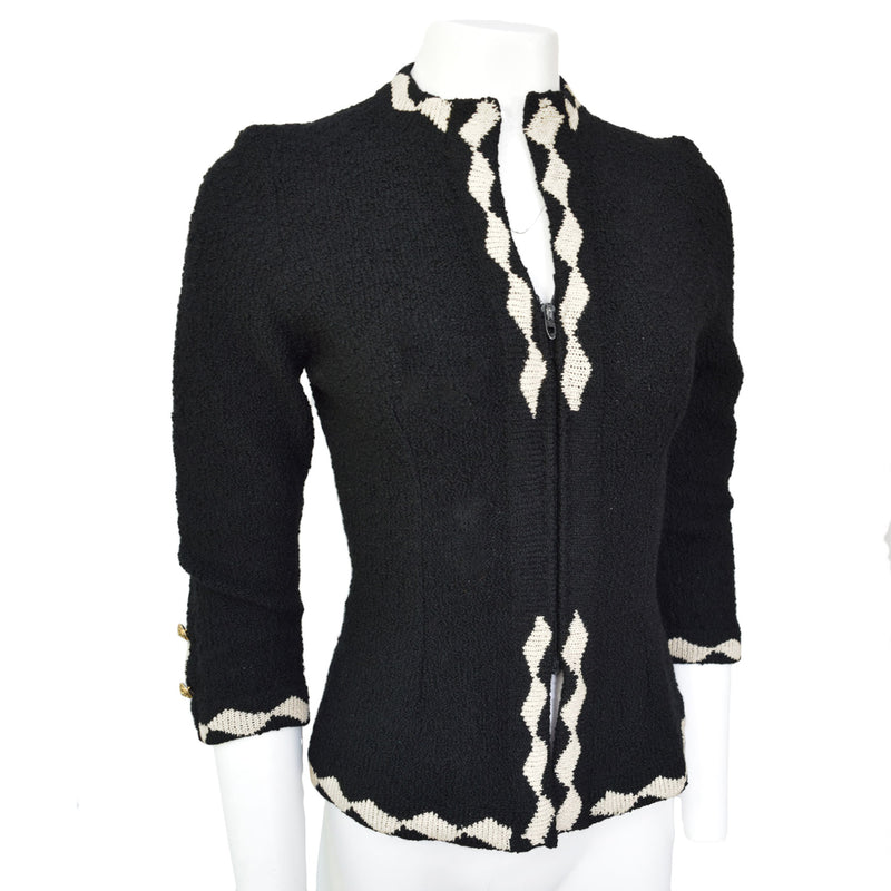 1950s Black & White Cardigan