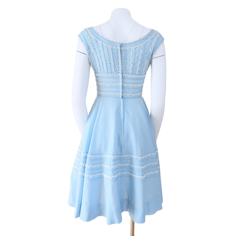 1960s Powder Blue Dress - Sweet Disorder Vintage