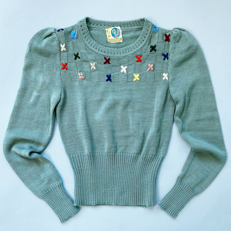 1970s Embroidered Pullover Sweater