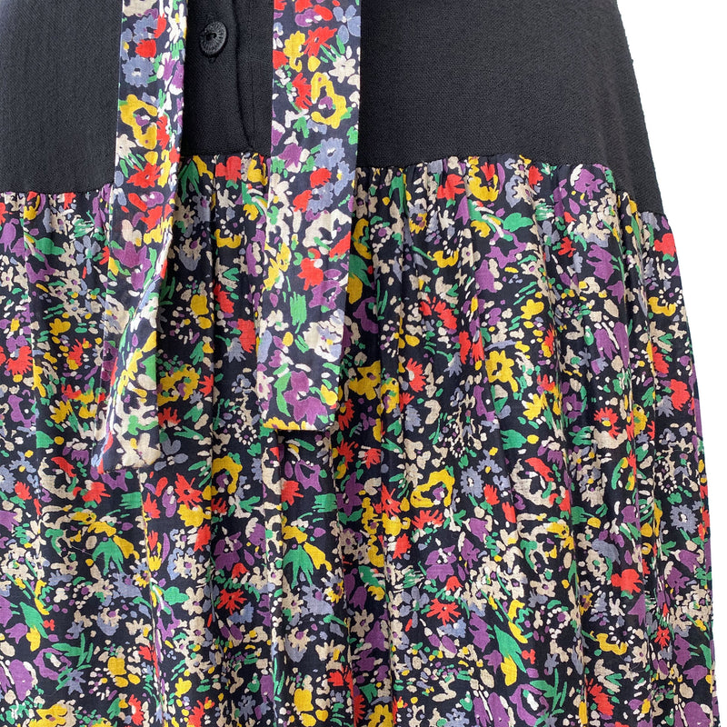 1970s Floral Tiered Maxi Dress