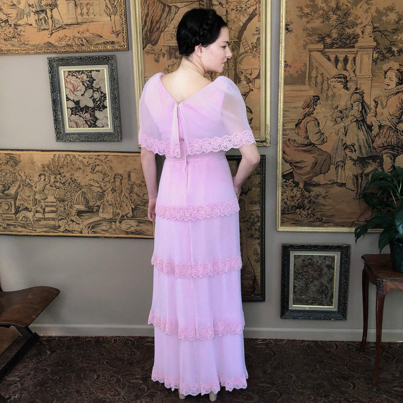 1970s Tiered Maxi Dress - Sweet Disorder Vintage