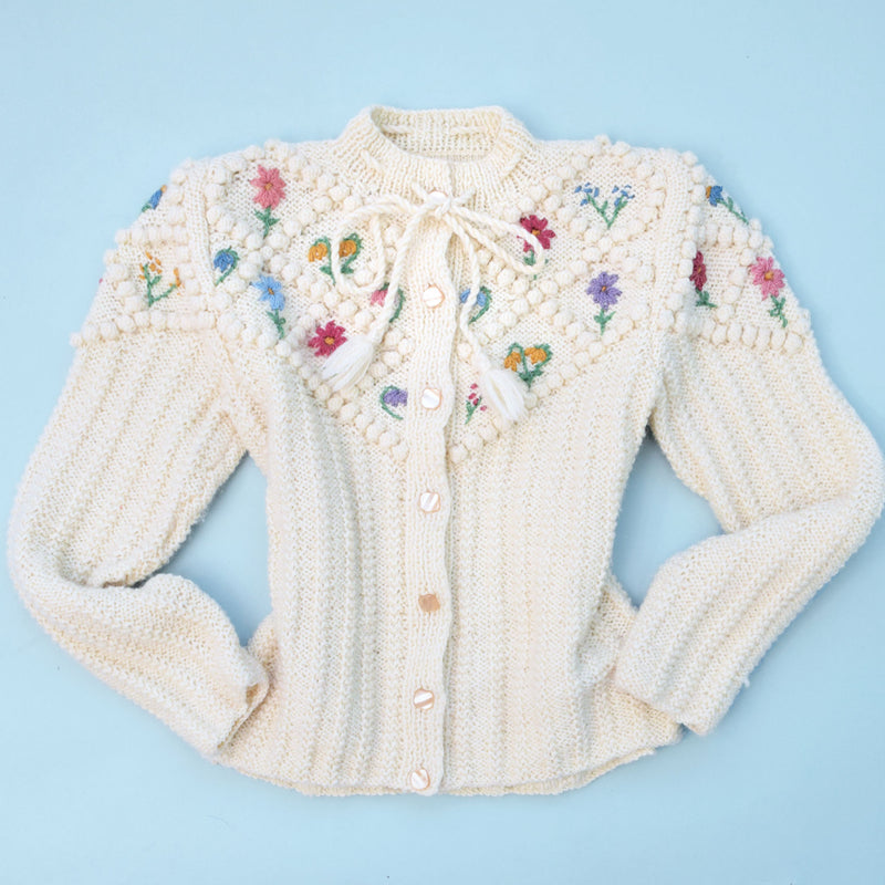 1970s Cream Tyrolean Cardigan