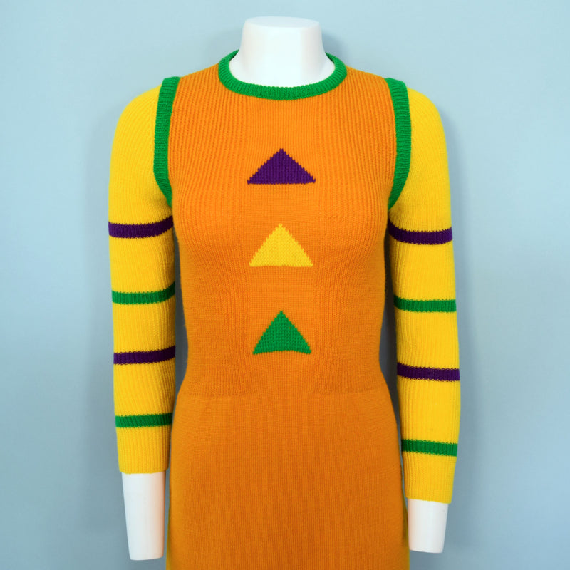 1970s Deco Knit Dress