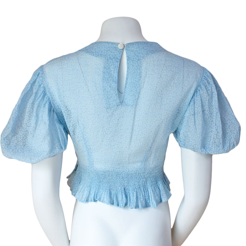 1940s Puff Sleeve Blouse - Sweet Disorder Vintage