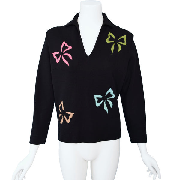 1950s Bow Novelty Knit Top
