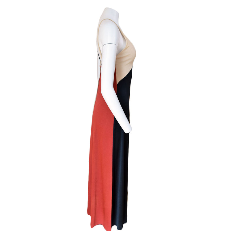 1970s Colorblock Maxi Dress - Sweet Disorder Vintage