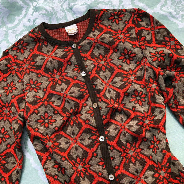 1970s Deco Catalina Cardigan - Sweet Disorder Vintage