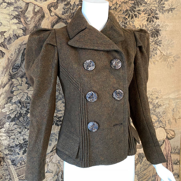 Victorian Mutton Sleeve Wool Jacket