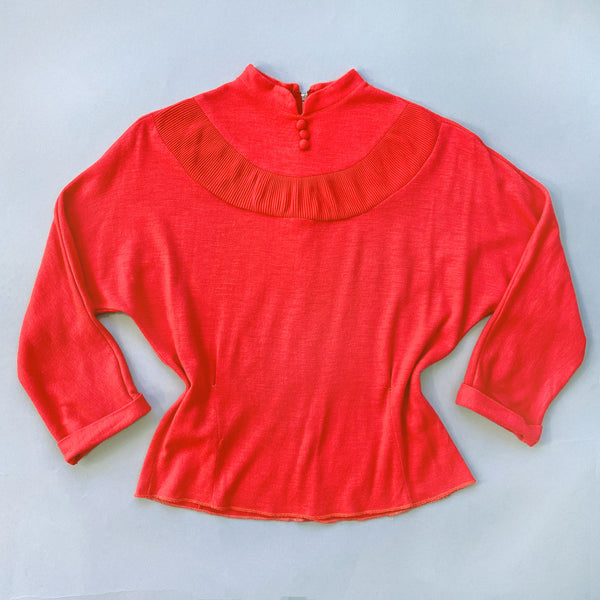1960s Coral Knit Top