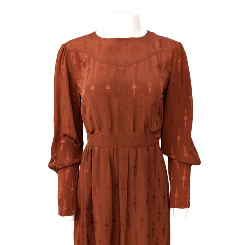 1930s Deco Jacquard Day Dress