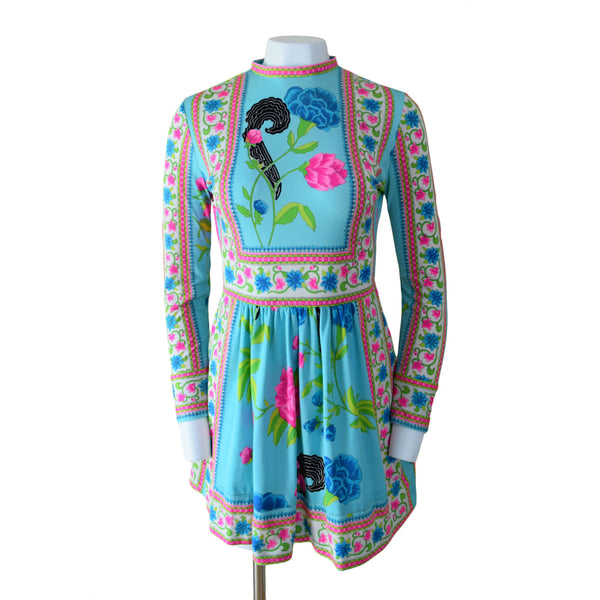 1970s Mr Dino Mini Dress - Sweet Disorder Vintage