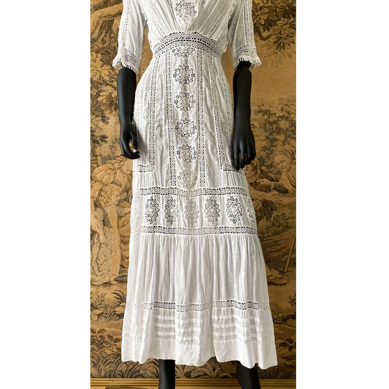 Edwardian Rosette Tea Dress
