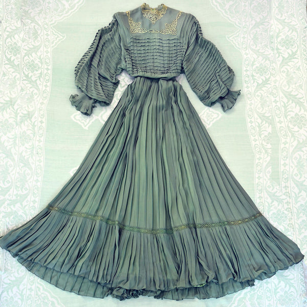 1970s Edwardian Romance Dress - Sweet Disorder Vintage