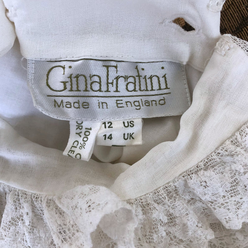 1970s Gina Fratini Lace Ruff Dress - Sweet Disorder Vintage