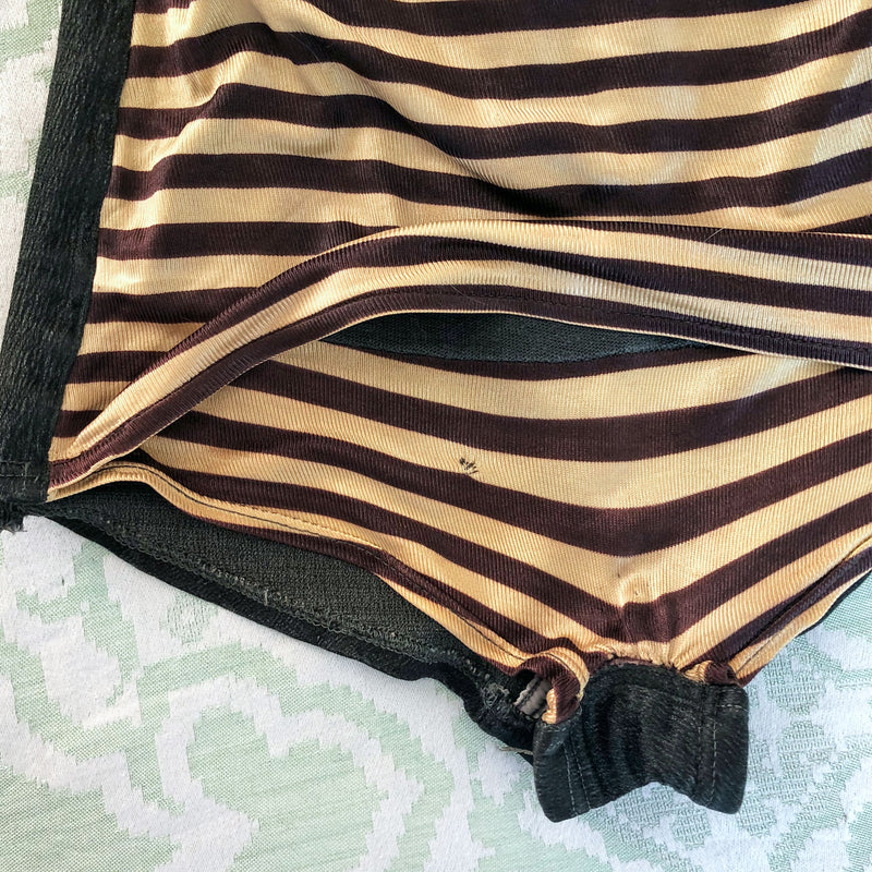 1940s Striped Swimsuit - Sweet Disorder Vintage