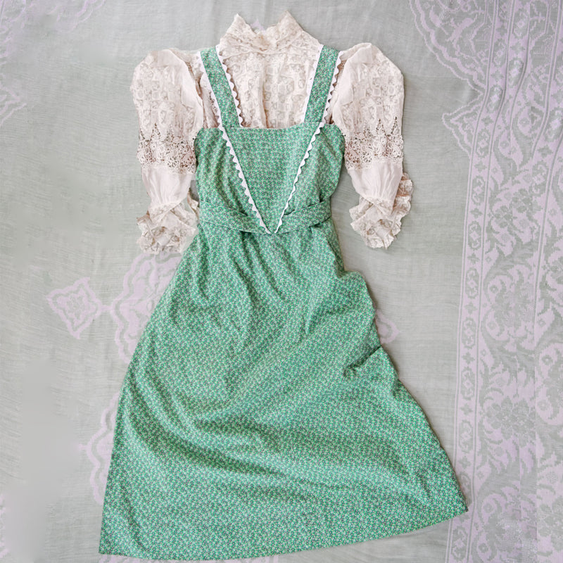 1970s Pinafore Dress - Sweet Disorder Vintage