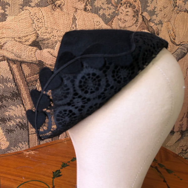 1930s Hearts Cap - Sweet Disorder Vintage