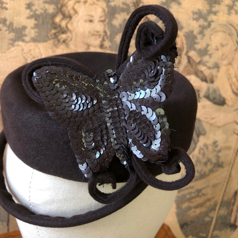 1940s Butterfly Fascinator - Sweet Disorder Vintage