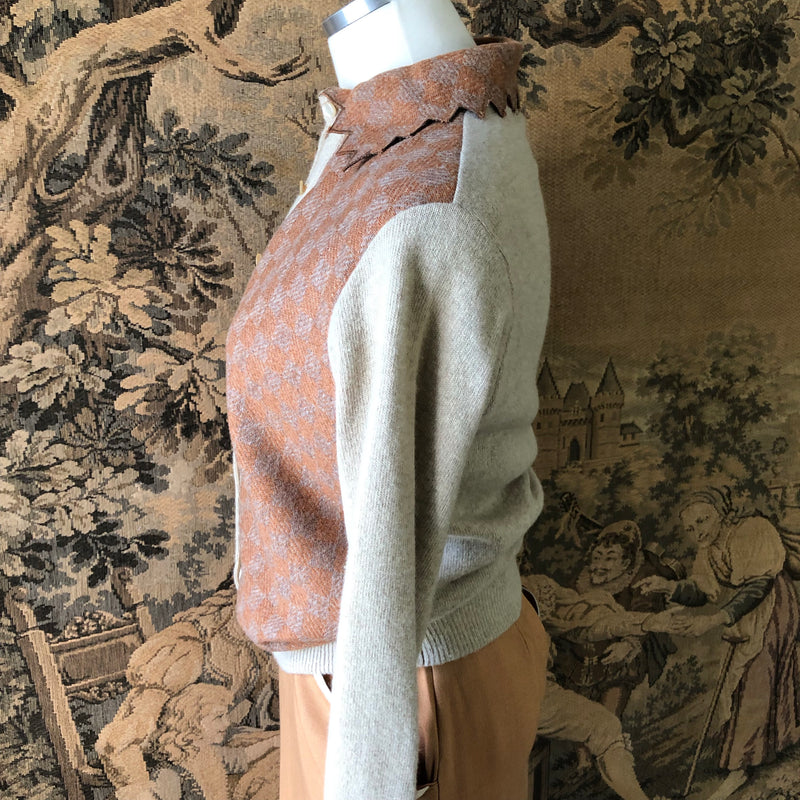 1950s Checked Cardigan & Sweater Set - Sweet Disorder Vintage