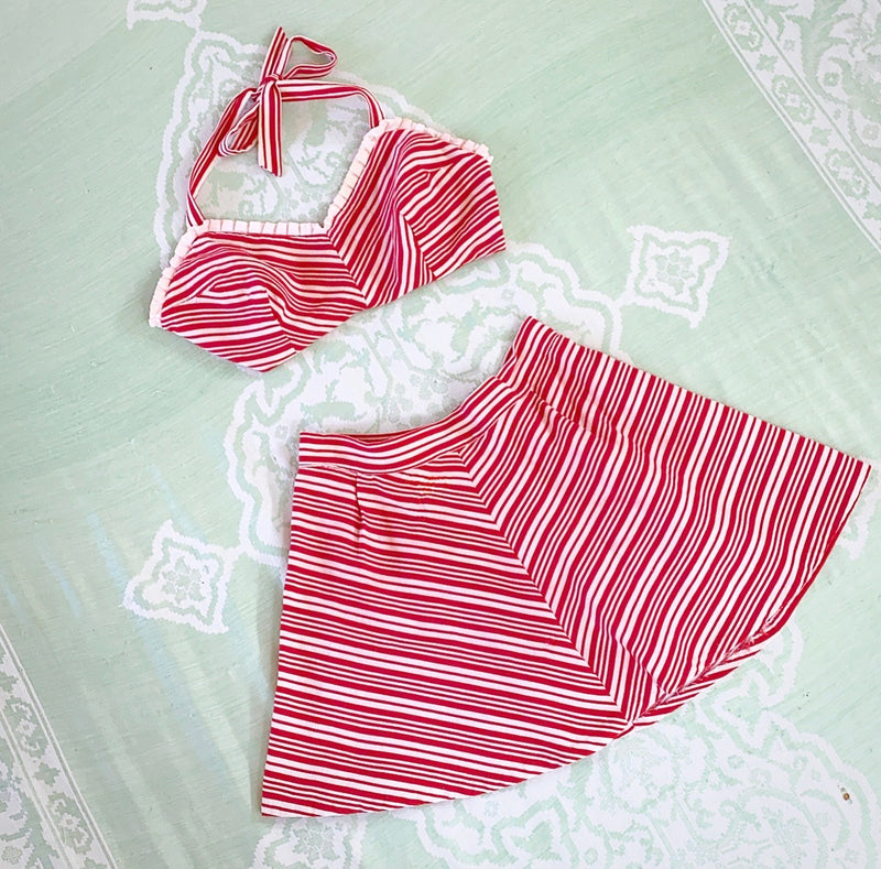 1940s Candy Stripe Playsuit