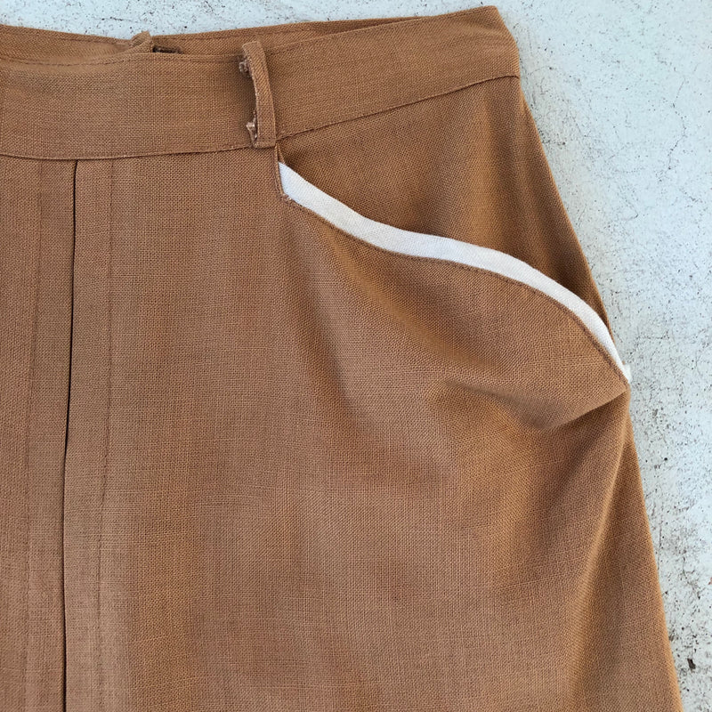 Vintage 1940s Linen Pencil Skirt - Sweet Disorder Vintage