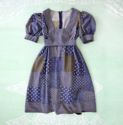 1970s Calico Print Mini Dress - Sweet Disorder Vintage