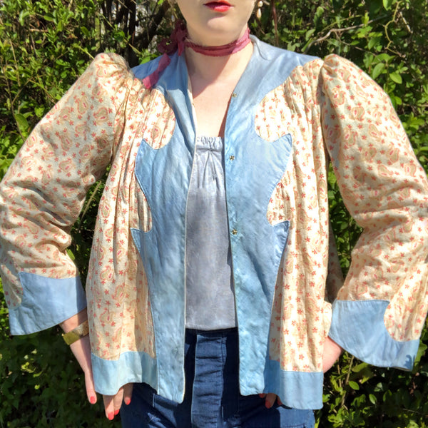 Antique Paisley Bed Jacket - Sweet Disorder Vintage