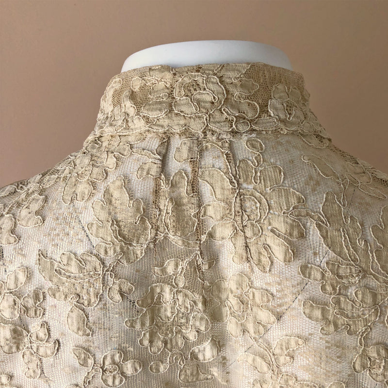 1930s Dagger Collar Lace Blouse - Sweet Disorder Vintage