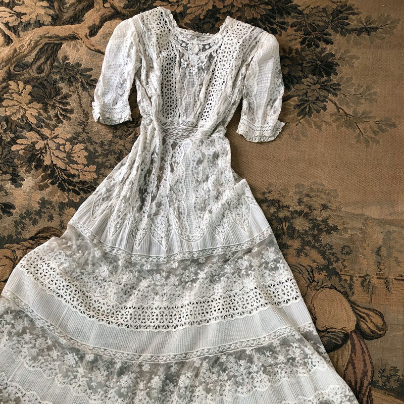Antique Edwardian Lace Dress - Sweet Disorder Vintage
