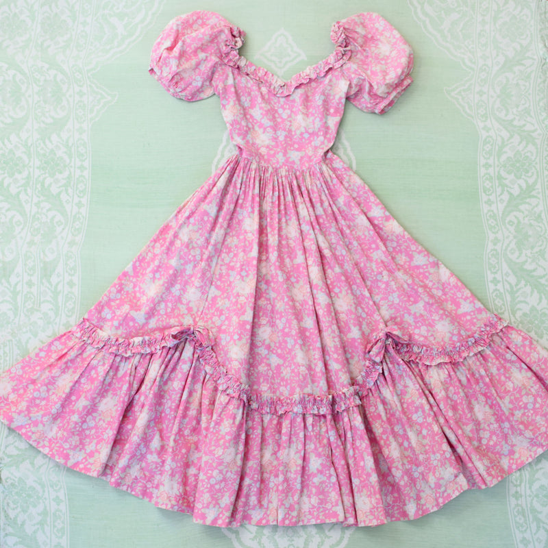 1980s Laura Ashley Floral Dress - Sweet Disorder Vintage