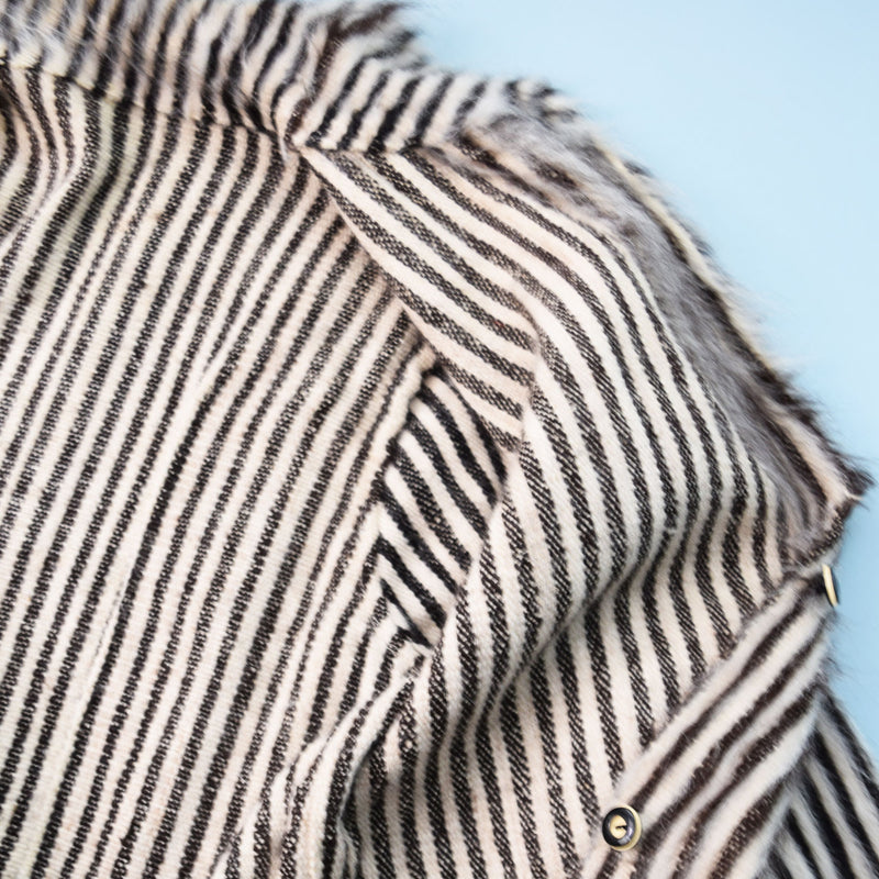 1930s Striped Mohair Coat - Sweet Disorder Vintage