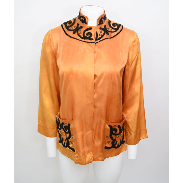 1930s Satin Lounge Jacket