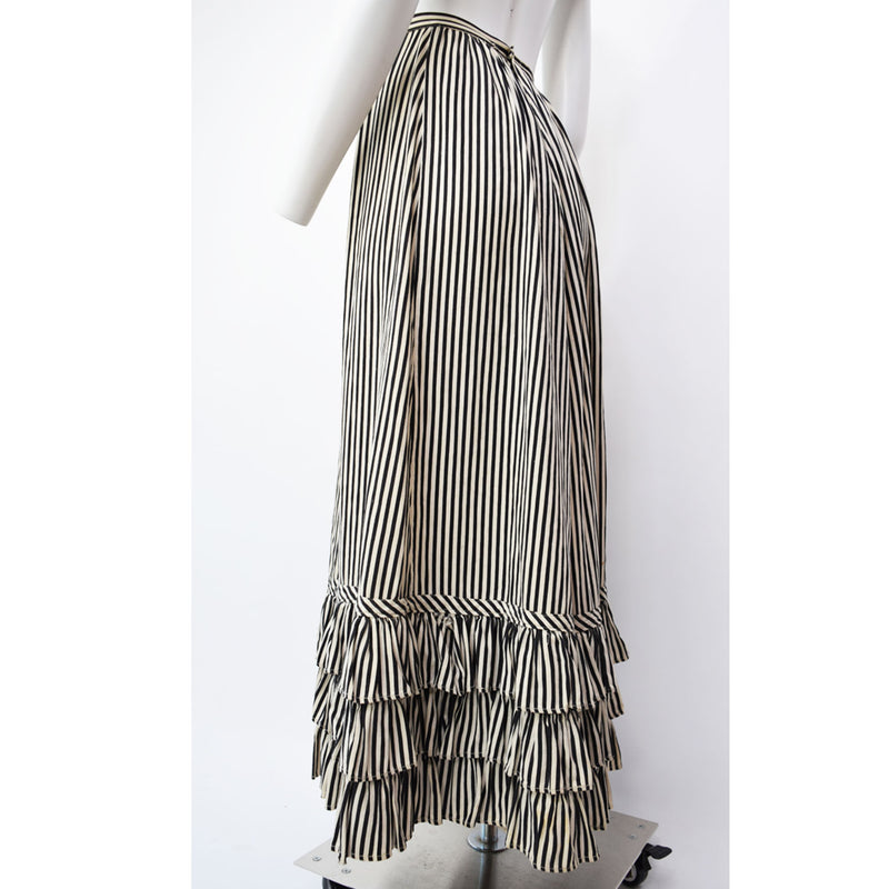 Edwardian Black & White Striped Skirt